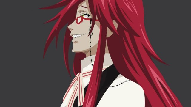 2018 NEW Black Butler Grell Sutcliff Cosplay Red Wigs