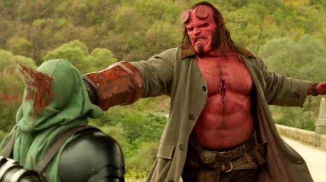 Hellboy Head Mask worn by David Harbour as seen in Hellboy