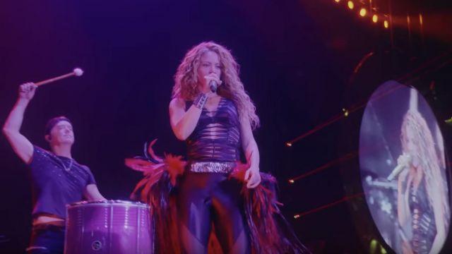 Le body noir de Shakira porté lors de son live du El Dorado World Tour