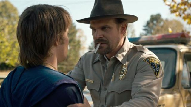 The conduct of police Jim Hopper (David Harbour) in Stranger Things
