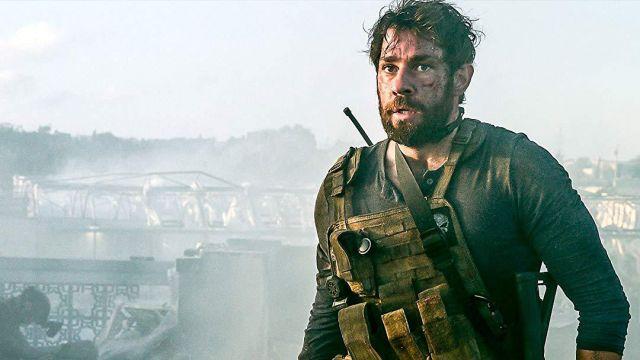 Blue Two-Button Long Sleeve Henley worn by Jack Silva (John Krasinski) in 13 Hours: The Secret Soldiers of Benghazi