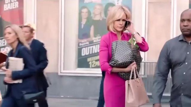 Black Goyard bag worn by Gretchen Carlson (Nicole Kidman) in Bombshell