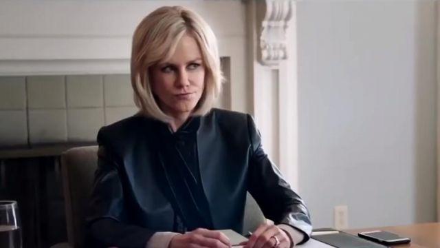 Black leather jacket worn by Gretchen Carlson (Nicole Kidman) in Bombshell
