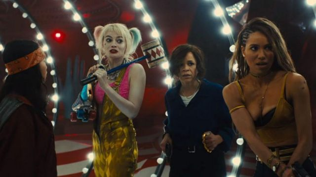 The Outfit Jumpsuit Golden Yellow And Pink Top Harley Quinn Margot Robbie In Birds Of Prey And The Fantabuleuse History Of Harley Quinn Spotern