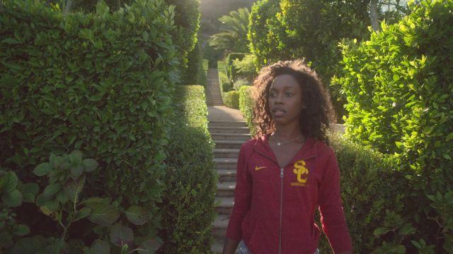 Nike NCAA USC trojans pullover jacket worn by Simone