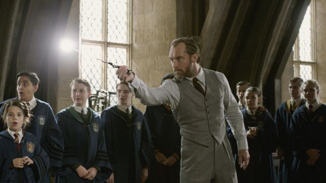The wand of Albus Dumbledore (Jude Law) in The fantastic Animals : The Crimes of Grindelwald