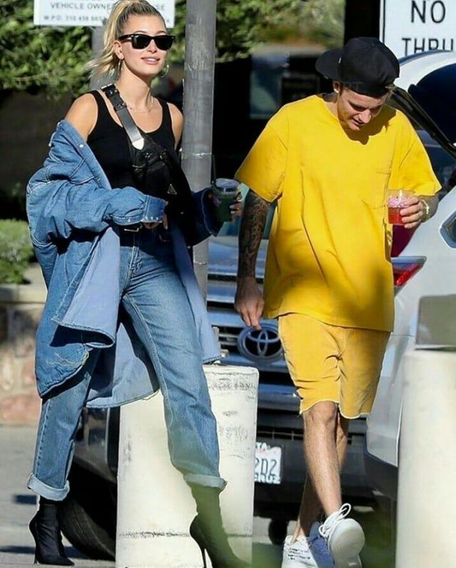 Balenciaga knife spandex sock boots worn by Hailey Baldwin Nobu Malibu October 20, 2019