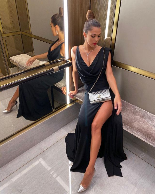 The Black Evening Dress Of Iris Mittenaere On The Account Instagram Of Irismittenaeremf Spotern