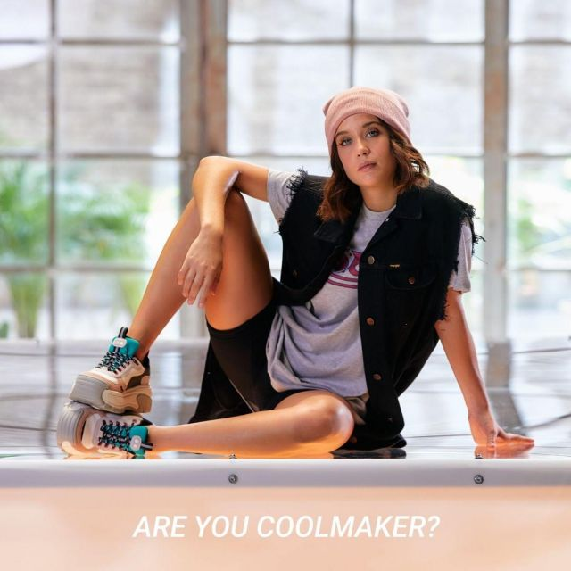 Sneakers Coolway Rex of María Pedraza on the Instagram account @coolwaybrand