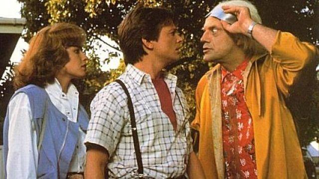 La chemisette à carreaux de Marty Mcfly (Michael J. Fox) dans le film Retour vers le futur