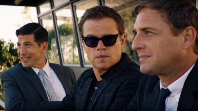 Spectaculars Benjamin sunglasses worn by Carroll Shelby (Matt Damon) in Ford v. Ferrari