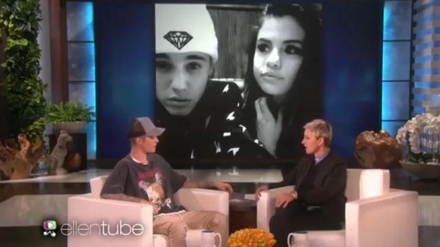 Le tshirt metalica de Justin Bieber dans The Ellen DeGeneres Show