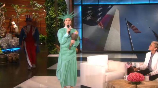Le deguisement de Emily Blunt dans The Ellen DeGeneres Show
