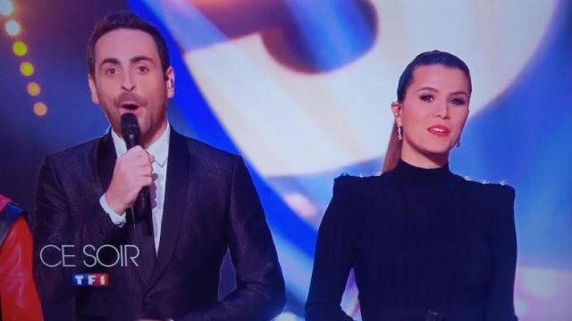 The black dress of Karine Ferri on Dancing with the Stars