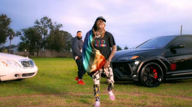 Vans Old Skool Zephyr & White Shoes worn by Lil Wayne in the YouTube video DJ Khaled - Jealous ft. Chris Brown, Lil Wayne, Big Sean (Lyrics)