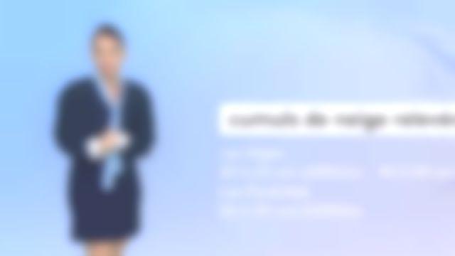 La robe courte col cravate en crêpe Bleu de Virginie Hilssone dans Météo de France 3 le 05.11.2019