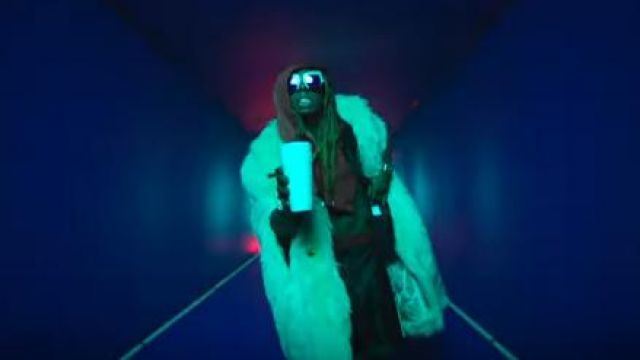 Product Gucci Acetate Shorts With Stripe worn by Lil Wayne in the YouTube video Kid Ink - YUSO (Official Video) ft. Lil Wayne, Saweetie