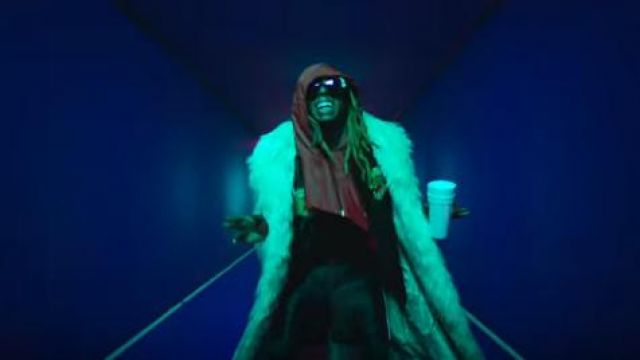 Gucci Pan­ther Bowl­ing Shirt worn by Lil Wayne in the YouTube video Kid Ink - YUSO (Official Video) ft. Lil Wayne, Saweetie