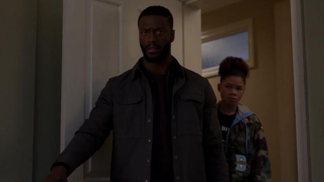 Grey Jacket worn by Aldis Hodge in The Invisible Man