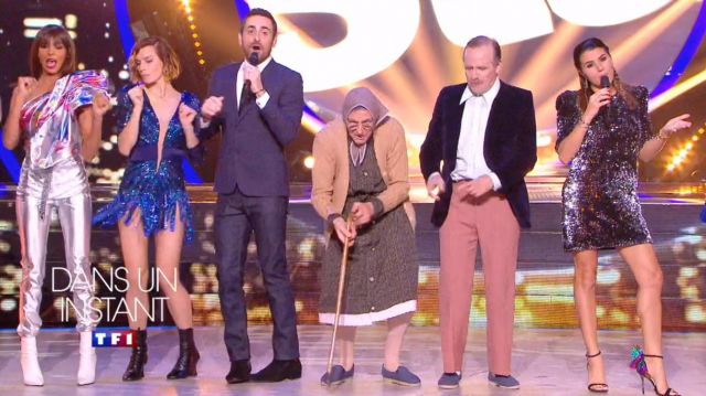 The heeled sandals butterfly wings of Karine Ferri on Dancing with the Stars