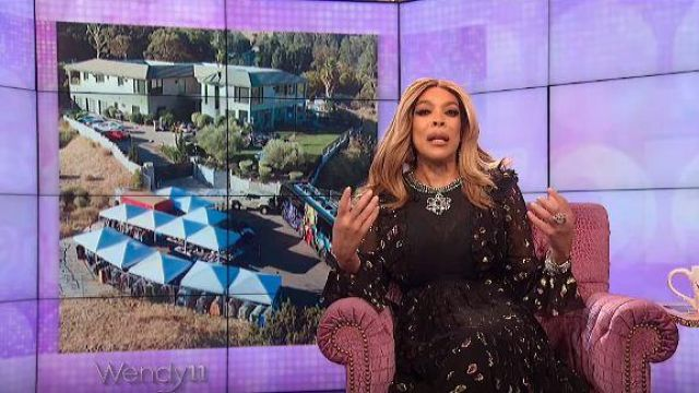 H&m Dress Black worn by Wendy Williams on The Wendy Williams Show November 7, 2019