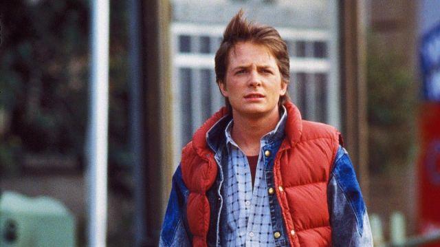 La doudoune sans manche portée par Marty McFly (Michael J. Fox) dans le film Retour vers le futur