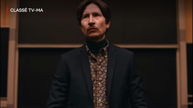 Turtleneck green Professor Clive Koch (Jonathan Aris) in The End of the F***ing World (S02E08)