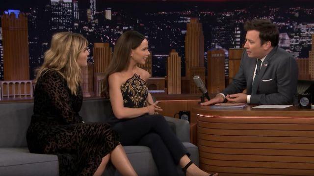Veronica Beard Lala Dress worn by Jenna Bush Hager on The Tonight Show Starring Jimmy Fallon November 12, 2019
