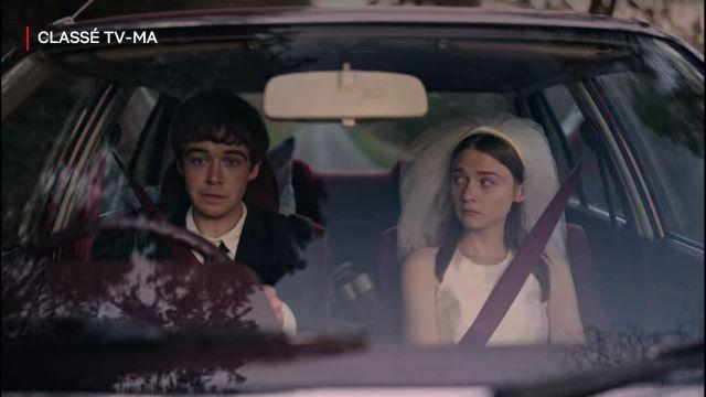 Voile de mariée de Alyssa (Jessica Barden) dans The End of the F***ing World (S02E03)