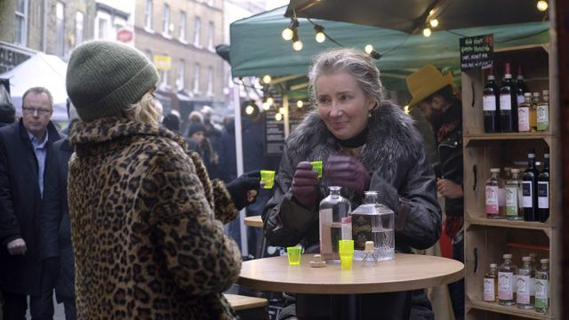Faux Fur Parka Puffer Jacket worn by Petra (Emma Thompson) in Last Christmas