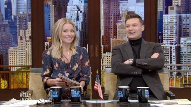 Ferme de Rio Marine Imprimé de la Robe portée par Kelly Ripa sur le LIVE avec Kelly et Ryan 13 novembre 2019