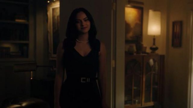 Review Australia Black Pilly Pearl Belt Worn By Veronica Lodge Camila Mendes In Riverdale Season 4 Episode 6 Spotern