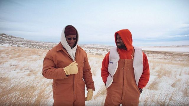 Brown coveralls of Ray West in Kanye West - Follow God
