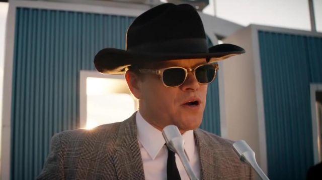 Entourage of 7 Sunglasses worn by Carroll Shelby (Matt Damon) in Ford v Ferrari