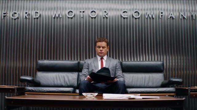 Red Skinny Tie worn by Carroll Shelby (Matt Damon) in Ford v Ferrari