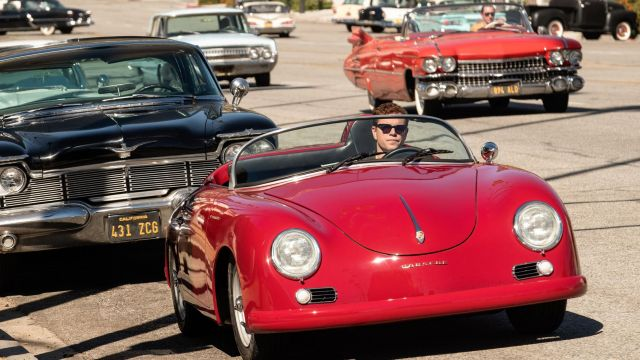 1956 Porsche 356 driven by Carroll Shelby (Matt Damon) in Ford v Ferrari