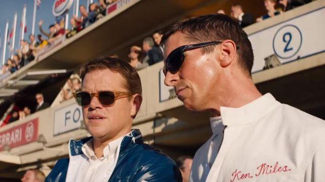 The sunglasses of Carroll Shelby (Matt Damon) in the film le Mans 66