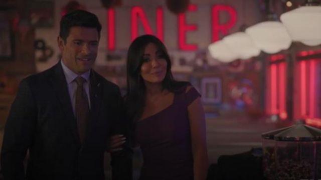 Purple One-Shoulder Dress worn by Hermione Lodge (Marisol Nichols) in Riverdale Season 4 Episode 7