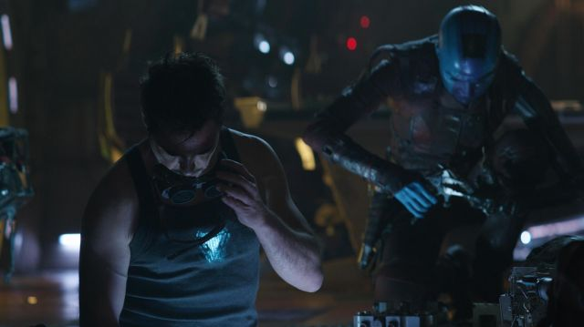 Iron Man Arc Reactor Tank Top worn by Tony Stark / Iron Man (Robert Downey Jr.) in Avengers: Endgame