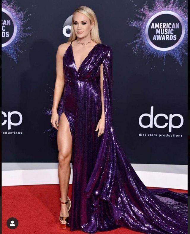 Giuseppe Zanotti Betty Cuir verni Sandales à Plateforme porté par Carrie Underwood American Music Awards, le 24 novembre 2019