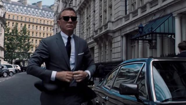 Barton Perreira sunglasses worn by James Bond (Daniel Craig) as seen in No Time To Die