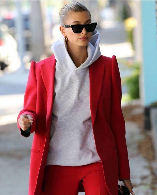 Jennifer Fisher Gold Earrings worn by Hailey Bieber Beverly Hills December 2, 2019