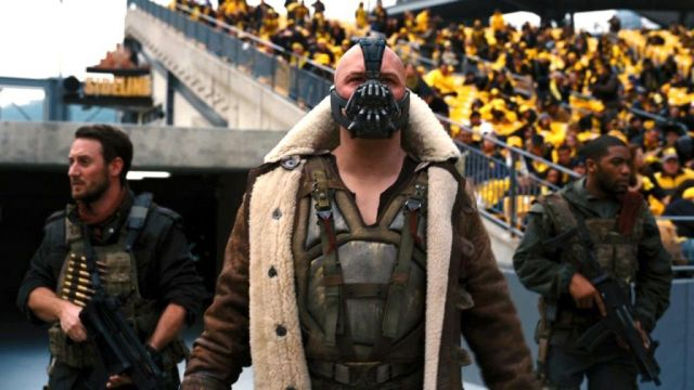 Brown Leather Coat with fur collar worn by Bane (Tom Hardy) in The Dark Knight Rises