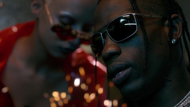 Arnette Maboneng sunglasses in grey worn by Travis Scott in his HIGHEST IN THE ROOM music video