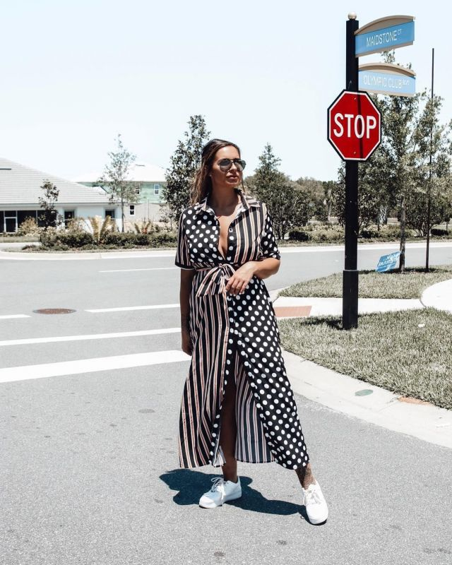 Belted Shirt Dress of Jessica Shears on the Instagram account @jessica_rose_uk