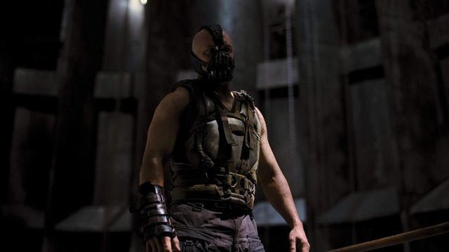 Military Faux Leather Coat of Bane (Tom Hardy) in The Dark Knight Rises