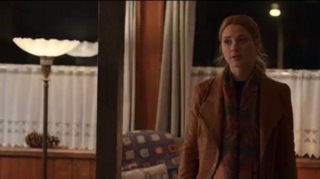 Vince Brown Leather Jacket worn by Melinda Monroe (Alexandra Breckenridge) in Virgin River Season 01 Episode 02