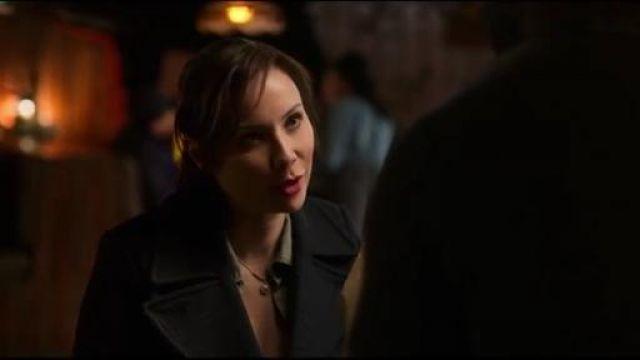 J Crew Navy Coat worn by Paige Lassiter (Lexa Doig) in Virgin River Season 01 Episode 04