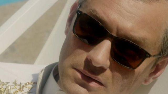 Sunglasses Giorgio Armani Lenny Belardo (Jude Law) in The Young Pope (S01E07)