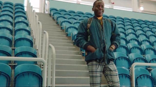 Denim Jacket worn by Eric Effoing (Ncuti Gatwa) in Sex Education (S01E04)